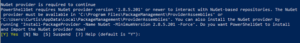 NuGet Provider is required to continue
