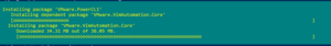 Installing package 'VMware.PowerCLI'