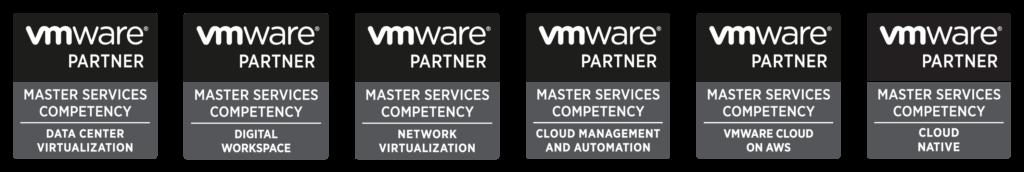 All 6 VMware Master Services Competencies