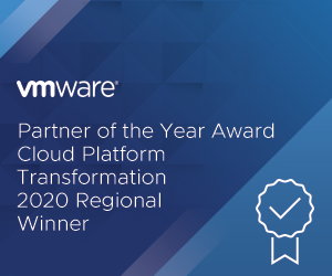 Partner of the Year Award, Cloud Platfoirm Transformation 2020 Regional Winner