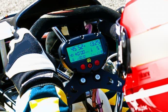 Close up of a Formula 1 cars cockpit